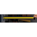 Seton 86994 Wall Mount Security Tensabarriers- Yellow and Black 897-15-S-33-NO-D4X-C