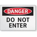 Seton FireFly Reflective Safety Signs - Danger - Do Not Enter