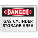 Seton FireFly Reflective Safety Signs - Danger - Gas Cylinder Storage Area
