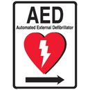 Seton 87558 1-Way View AED Sign - (Includes Arrow Graphic)