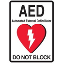 Seton 87560 1-Way View AED Sign - Do Not Block
