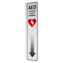 Seton 87563 2-Way View AED Sign - (Includes Arrow Graphic)
