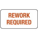 Seton Rework Required ISO 9000 Labels - 87753