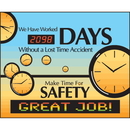 Seton 88014 LED Message Safety Scoreboard - Make Time For Safety