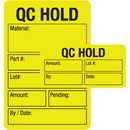 Seton QC Hold ISO 9000 Labels