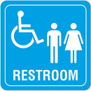 Seton 89394 Handicap Accessible Restoom Interior Sign