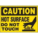 Seton 89879 Machine Hazard Warning Labels - Caution Hot Surface Do Not Touch
