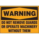 Seton 89895 Machine Hazard Warning Labels - Warning Do Not Remove Guards