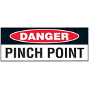 Seton 89919 Machine Safety Write-On Labels - Danger Pinch Point