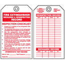 Seton 90078 Safety Inspection Tags - Fire Extinguisher Recharge & Inspection Record
