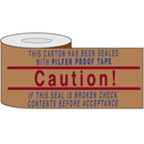 Seton 90107 Printed Kraft Reinforced Tape - Caution