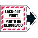 Seton 90265 Machine Safety Arrow Labels - Lock-Out Point/Punto De Bloqueado