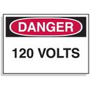 Seton 90305 Baler Safety Labels - Danger 120 Volts