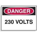 Seton 90307 Baler Safety Labels - Danger 230 Volts