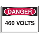Seton 90308 Baler Safety Labels - Danger 460 Volts