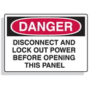 Seton 90310 Baler Safety Labels - Danger Disconnect And Lock Out Power Before Opening