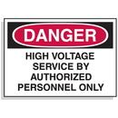 Seton 90313 Baler Safety Labels - Danger High Voltage