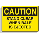 Seton 90316 Baler Safety Labels - Caution Stand Clear When Bale is Ejected