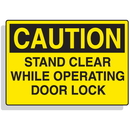 Seton 90317 Baler Safety Labels - Caution Stand Clear While Operating Door Lock