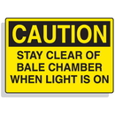 Seton 90318 Baler Safety Labels - Caution Stay Clear of Bale Chamber