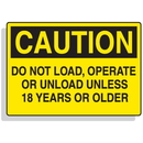 Seton 90319 Baler Safety Labels - Caution Do Not Operate Unless 18 Years or Older