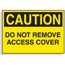 Seton 90320 Baler Safety Labels - Caution Do Not Remove Access Cover