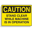 Seton 90323 Baler Safety Labels - Caution Stand Clear While Machine is in Operation