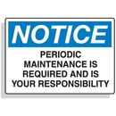 Seton 90326 Baler Safety Labels - Notice Periodic Maintenance is Required and is Your Responsibility