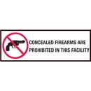 Seton 90367 Gun Prohibition Sign - Plastic