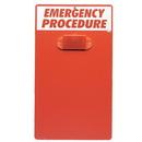 Seton 90468 Emergency Procedure Clipboard