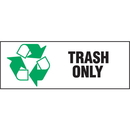Seton 90875 Recycling Labels - Trash Only