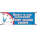 Seton 91042 Safety Is Like Clockwork Safety Slogan Banners