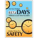 Seton 91072 Motivational Safety Scoreboards - Make Time For Safety