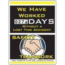 Seton 91075 Motivational Safety Scoreboards - Safety Teamwork