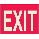 Seton 91185 Glow-in-the-Dark Red Exit Sign
