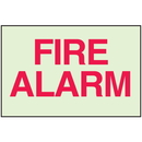 Seton 91189 Fire Alarm - Glow-In-The-Dark Fire Exit Sign