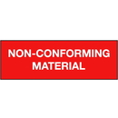 Seton Non-Conforming Material ISO Status Signs - 91273