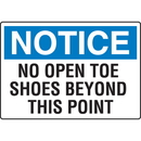 Seton Notice No Open Toe Shoes Beyond This Point Injury Prevention Signs - 91777
