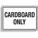 Seton 92343 Dumpster Signs- Cardboard Only