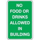 Seton 92409 Trash Signs- No Food Or Drink Allowed In Building