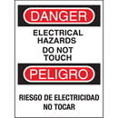 Seton 92443 Bilingual Safety Signs - Danger/Peligro - Electrical Hazards Do Not Touch