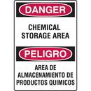 Seton 92571 Chemical & HazMat Signs - Chemical Storage Area (Bilingual)