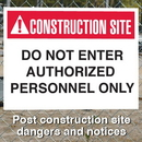 Seton 94152 Construction Site Safety Signs - Do Not Enter Authorized Personnel Only