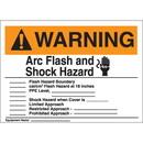 Seton Self Laminating Arc Flash Labels- Arc Flash and Shock Hazard
