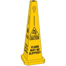 Seton 95211 Safety Traffic Cones- Caution Floor May Be Slippery, Size: 25