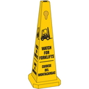 Seton 95227 Safety Traffic Cones- Watch For Forklifts (With Graphic) (Bilingual)