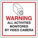 Seton 95624 CCTV Warning Signs - Activities Monitored