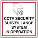 Seton 95630 CCTV Warning Signs - Security Surveillance