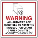 Seton 95632 CCTV Warning Signs - Activities Recorded