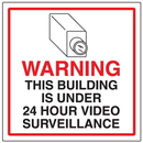 Seton 95634 CCTV Warning Signs - 24 Hr Surveillance